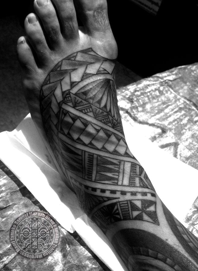 samoan foot tattoo kulture tattoo kollective. Black Bedroom Furniture Sets. Home Design Ideas