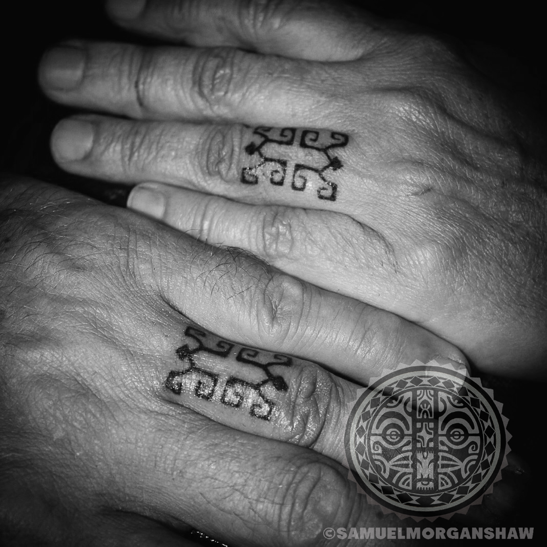 Maori Ring Tattoo: Marquesas Style Hand Tattoo
